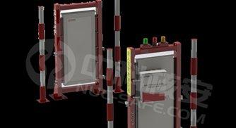 CRMS3000-B中小型通道式车辆放射性监测系统